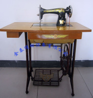 Old fashioned household sewing machine
