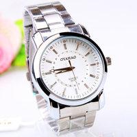 Free shipping Ouya fashion casual men's steel watch 163387