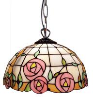 Tiffany pendant light rustic rose dining room decoration pendant light multicolour glass pendant light D300MM free shipping