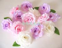 Simulation rose flowers, silk flower tea mei red decorative flower wreath of wedding to do 7 cm