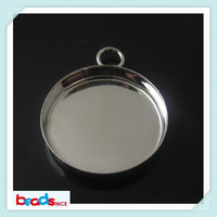 Beadsnice ID7727 new hot sale round bezel setting cabochon blank of pendant tray fit 16mm clear glass cabochon for necklace