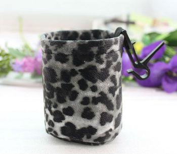 FREE SHIPPING 1PCS Black/white Leopard Print Auto Car Air Outlet Storage Box Bag #23463
