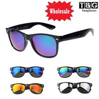 Whosale 6pc/Lot Nerd Men Women Sunglasses Brand Designer Vintage Retro Sun Glasses Fashion Coating Mirror Oculos De Sol