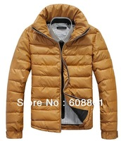 Free shipping 2013 New Men's down jacket Winter overcoat Outwear Winter jacket wholesale 6 colors, M-XXL, Free shipping