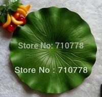 "29CM 11.4""  20pcs PE Artificial lotus leaf water lotus leaves peoperties wedding home supermarket decoration"