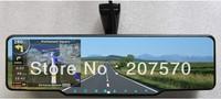 free shipping wholesale 1080p go pro black cameras rearview mirror+GPS+HD DVR recorder+ radar detector+wireless parking camera