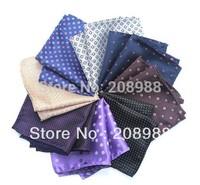 High Quality Jacquard Plaid / Polka Dot Mens Pocket Squares Mens Handkerchief  Hanky + Free Shipping 10PCS #1606