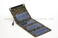 Camping 7W Portable folding solar panel pllant charger USB Output: 5.5V * 1270mA for Mobile phone /camera / MP3/MP4/PDA