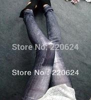 Hot!!!2013 Fashion East Knitting Wholesale  Women's Fashion Jeans Seamless Leggings  free Shipping