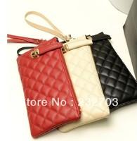 Free Shipping 2013 New Women's handbag Pouches purse bag clutch handbag Quilted bag