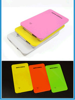 Newest Ultra Thin 10000mAh  Portable Power Bank Universal External Battery Charger with 6 Different Color