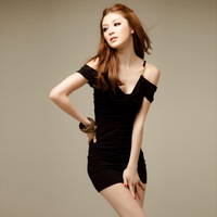 Free shipping Sexy slim hip slim underwear transparent tight princess female suspender skirt one-piece dress