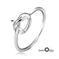 JewelOra #RI101129 best gifts charms 2013 Fine jewelry CZ Zircon Wedding Bands for Women Simple 925 Sterling Silver Lady Ring