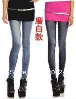New style fashion women's leggings&fashion Imitation jeans pants&low price high quality ladies leggings trousers S M L XL