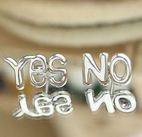 2013 Fashion bijoux jewelry.ES NO earrings English letters stud earrings.J093