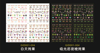 Promotion 2013 popular DIY Fashion Water Nail Stickers Nail art noctilucent/ luminous Decal with Colorful design Free Shipping