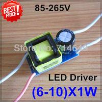 50pcs/lot, Common Use, (6-10)*1W led driver, (6-10)X1W lamp Transformer, 85-265V inside driver for E27 GU10 GU5.3 B22 led lamp