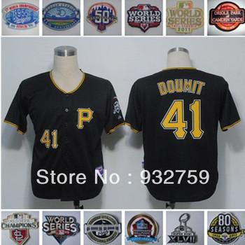 NEW Baseball Jerseys Pittsburgh #41 Ryan Doumit #21 Roberto Clemente #8 Willie Stargell Cheap #27 Kent Tekulve Wholesale Jersey