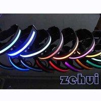 Colorful Nylon LED Dog Pet Flashing Light Up Collar Night Safety Collar SL00166