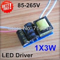 50pcs/lot, 1X3W power led driver, 3W LEDs lamp transformer, 85-265V inside driver for LED, 600-650mA lamp driver, free shipping