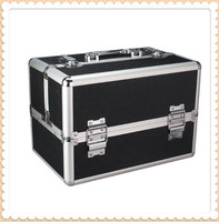 1408 - black cosmetics general beauty box tools storage aluminum case aluminum case
