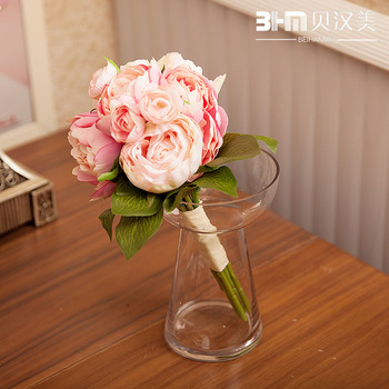 Furnishings artificial flower decoration flower silk flower artificial flower bride holding flowers high quality raw silk French