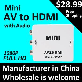 RCA to hdmi CVBS to HDMI AV to HDMI Converter mini AV to HDMI 1080P AV2HDMI Signal Converter for TV, VHS VCR, DVD Free Shipping