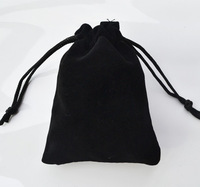 Free Shipping 100pcs/Lot 10x12cm Black Color Jewelry Velvet Gift Packaging Bags & Pouches