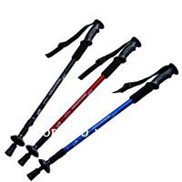 """Freeshipping 2pcs Adjustable AntiShock Trekking Hiking Walking Stick  65cm-135cm/ 26 """" to 53 """" with  Dropshipping"""