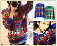 2014 new colorful geometric pattern set national air Scalp knitting / shipping1438
