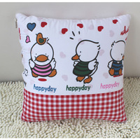 Pillow is folding cushion is 100% cotton air conditioning quilt pillow dual multifunctional cartoon towels are