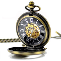 Best Selling Tercel Pendant Watches Necklace Vintage Mens Mechanical Pocket Watch Gift Free Shipping