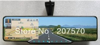 4.3 Inch Rearview Mirror with Built-in Car GPS navigation,MTK,,Bluetooth,AVIN,FM,4GB with free map,Wireless rear view camera