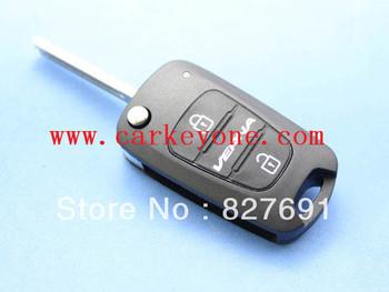 Guaranteed 100% Hyundai Verna 3 button flip key shell / key a car FOB case+ Free shipping wholesale and retail