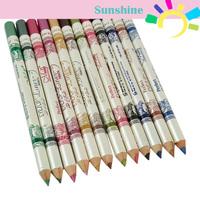 New 12 Color Cosmetics Makeup Pen Waterproof Glitter Eyebrow Eye Liner Lip Eyeliner Pencil 1Set 16949