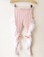 new design autumn Korean Ladies Pink Girls flowers fungus edge Leggings Personality Novel