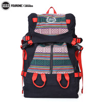 Free shipping! Fourone2013 print national stunning trend backpack female exude the trend backpack male 9381  Hot sale.