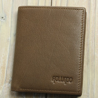 Fashionable design genuine leather pocket wallet