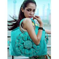 women bags diamond flower women's handbag  large capacity female shoulder bag  messenger bag high-quality pu bag free shipping
