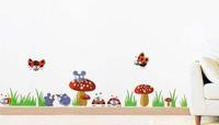 Ladybug mushroom mouse Wall Sticker Decal For Kids Children Baby Nursery Room Decor XY8075