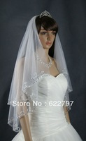 Free shipping Newest Gorgeous exquisite Fashion Beading Bridal Wedding Veil White Bridal Accessories --Hot sale