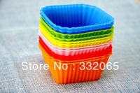 DIY Free Shipping Wholesale Silicone Cake Mold/Cupcake liners Mold /handmade soap mold /baking mould bakeware 60pcs/lot