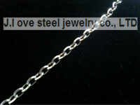 5/PCS/lot Silver stainless steel 50 cn wholesale jewelry, Italy O cable chain free A021 delicate polishing burnish