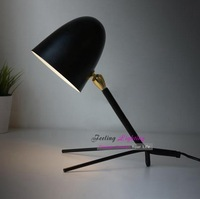 Free Shipping 1960 Creative Classical France Table Lamp Ant Desk Bedside Light Fixture Decor  Black