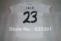 13-14 season thailand quality real madrid white home 23#ISCO