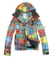 Free shipping 2013 mens burton waterproof skiing jacket colorful snowboard jacket light ski parka men ski suit skiwearmulticolor