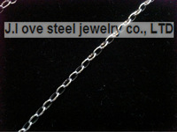 5/PS Silver stainless steel 50 cn jewelry Italy fine polished stainless steel 4.8 MM MM wide type o figaro chain necklace