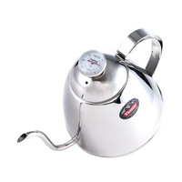 Stainless steel coffee tiamo small mouth pot specialty coffee pot belt ha8402 900cc thermometer gooseneck spout kettle