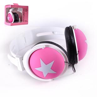 HOT Boxed earphones mixstyle big headset earphones five-pointed star earphones computer earphones(China (Mainland))