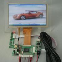 VGA+2AV Reversing driver board + 7inch AT070TN92 800X480 with touch panel kit